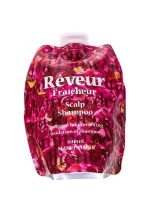 Reveur fraicheur  scalp живой бессиликоновый шампунь для ухода за кожей головы 340 мл сменный блок. Цвет: розовый