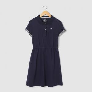 Платье-поло, 10-16 лет R pop. Цвет: синий морской