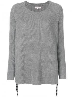 Вязаный свитер с завязками на бант Chinti & Parker. Цвет: серый