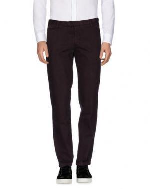 Повседневные брюки EXIBIT. Цвет: баклажанный