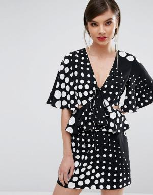 C/meo Collective Платье миди. Цвет: мульти