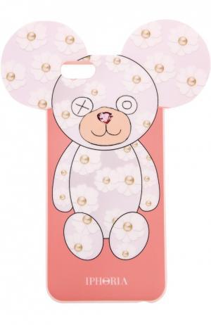Чехол для iPhone 6 с медведем Iphoria. Цвет: розовый