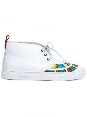 Декорированные ботинки-чукка Del Toro Shoes. Цвет: белый