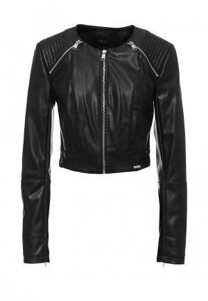 Куртка кожаная Guess Jeans. Цвет: черный