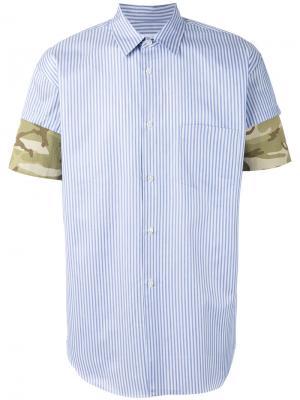 Camouflage detail striped shirt Comme Des Garçons. Цвет: синий