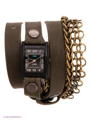 Часы La Mer Collections. Цвет: серо-зеленый, черный