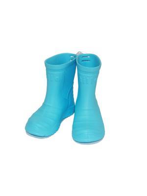 Сапоги Tilla. Цвет: голубой