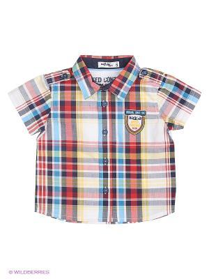 Рубашка Wojcik. Цвет: голубой, красный, желтый