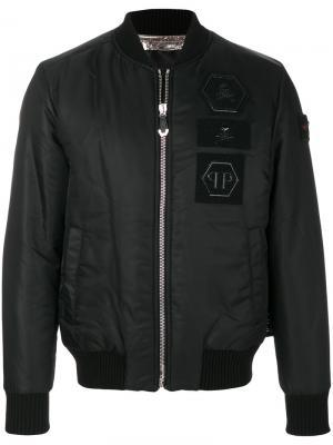 Куртка бомбер Stress Philipp Plein. Цвет: чёрный