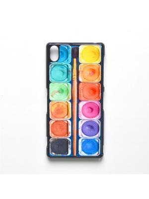Чехол для Sony Xperia Z3 Акварель с кисточкой Boom Case. Цвет: антрацитовый