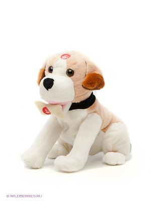 Мягкая игрушка Пес Дружок Fluffy Family. Цвет: рыжий, белый