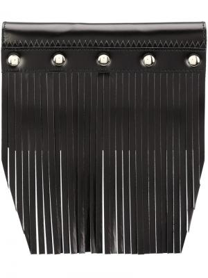 Кошелек с бахромой и заклепками Comme Des Garçons Wallet. Цвет: чёрный