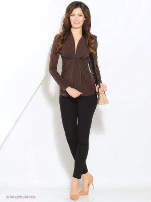 Блузка Alina Assi. Цвет: коричневый