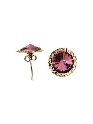 Серьги NAVELL. Цвет: розовый, золотистый