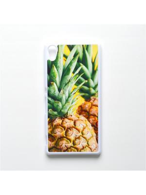 Чехол для Sony Xperia Z3 Plus Ананас Boom Case. Цвет: светло-зеленый, светло-желтый