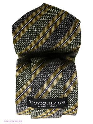 Галстук Troy collezione. Цвет: темно-бежевый, темно-зеленый