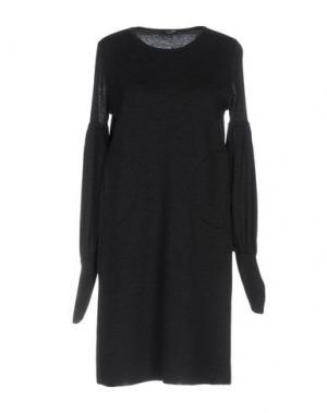 Короткое платье NEERA. Цвет: стальной серый