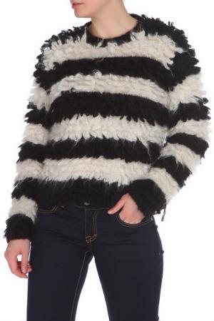 Свободный свитер в полоску MAX MARA SFILATA. Цвет: черный, белый, полоска