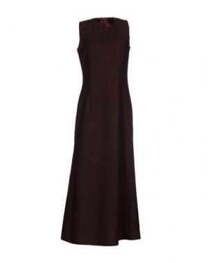 Длинное платье MM6 by MAISON MARGIELA. Цвет: красно-коричневый