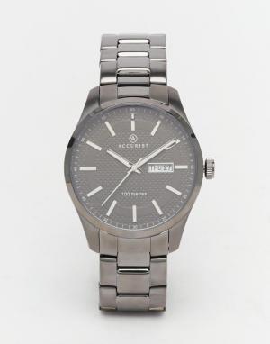 Accurist Классические серые часы из нержавеющей стали. Цвет: серый