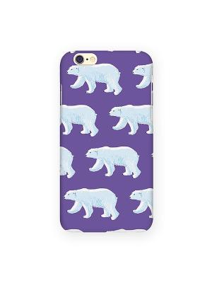 Чехол для IPhone 6 Ночные мишки Mitya Veselkov. Цвет: фиолетовый, светло-голубой