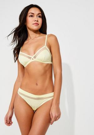 Бюстгальтер Calvin Klein Underwear. Цвет: желтый