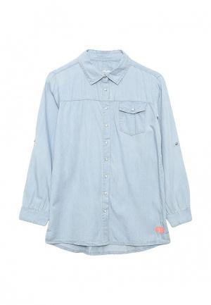 Рубашка джинсовая Staccato. Цвет: голубой