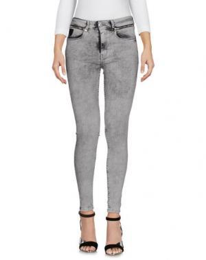 Джинсовые брюки APRIL 77. Цвет: серый