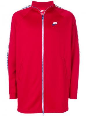 Спортивная куртка с кантом NSW Nike. Цвет: красный
