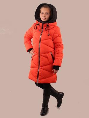 Пальто Fobs. Цвет: оранжевый