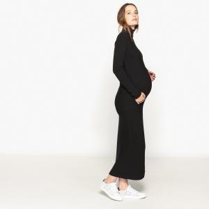 Платье трикотажное для периода беременности La Redoute Collections. Цвет: серый меланж,черный