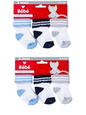 Носки детские махровые ,комплект 6 пар Malerba. Цвет: синий, голубой, серый