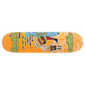 Дека для скейтборда  Cromer Burger Gang Orange/Multi 32 x 8.06 (20.5 см) Krooked. Цвет: оранжевый,мультиколор