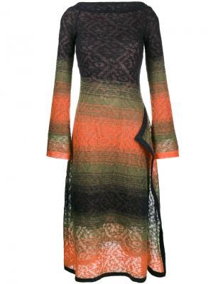 Платье миди Peter Pilotto. Цвет: многоцветный