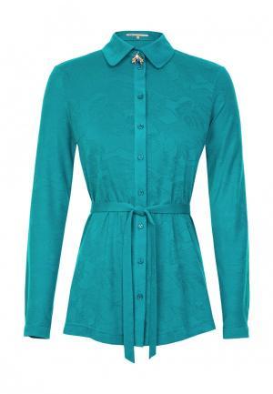 Блуза LO. Цвет: бирюзовый