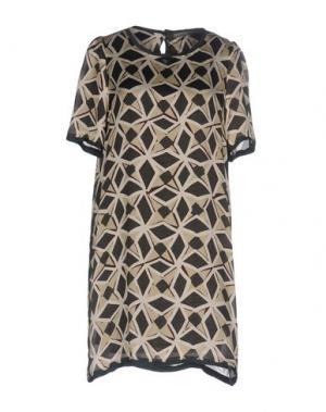 Короткое платье 19.70 NINETEEN SEVENTY. Цвет: зеленый