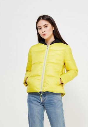 Куртка утепленная Mango. Цвет: желтый