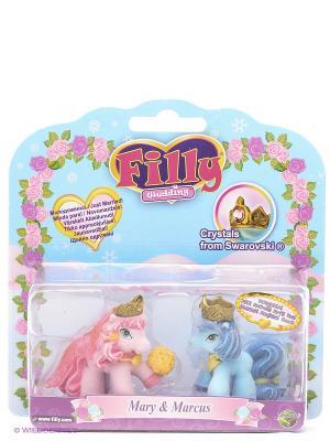 Набор игровой Filly Свадебная пара из серии Свадьба Мэри и Маркус Dracco. Цвет: голубой