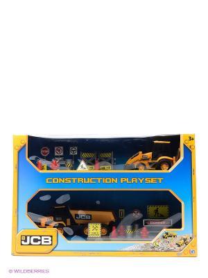 Игровой набор Стройка JCB HTI. Цвет: желтый