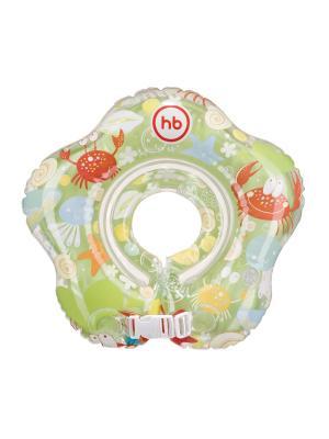 Детский надувной круг на шею  SWIMMER Happy Baby. Цвет: зеленый, красный, белый
