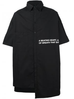 Длинная рубашка свободного кроя Barbara I Gongini. Цвет: чёрный