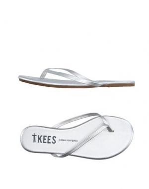 Вьетнамки TKEES. Цвет: серебристый