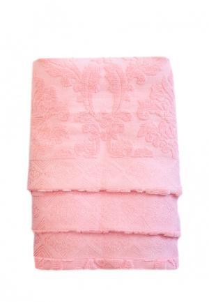 Комплект полотенец 3 шт. La Pastel. Цвет: розовый