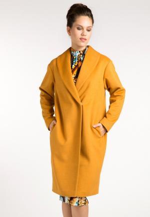 Пальто YuliaSway Yulia'Sway. Цвет: оранжевый