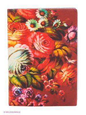 Обложка для автодокументов Жостовский узор-2 Mitya Veselkov. Цвет: красный
