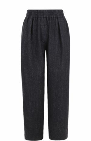 Шерстяные брюки с эластичным поясом Acne Studios. Цвет: темно-синий