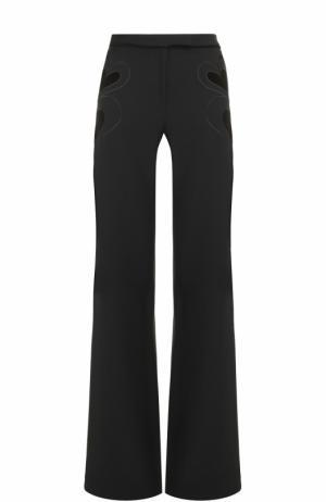 Расклешенные брюки с декоративной отделкой Elie Saab. Цвет: черный