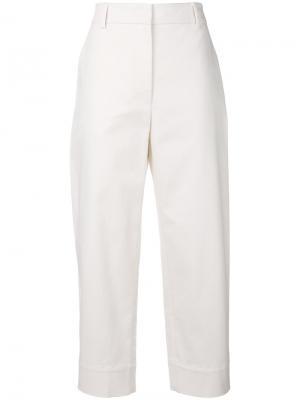 High waist cropped trousers Cédric Charlier. Цвет: телесный