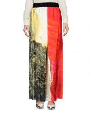 Длинная юбка MARIA CALDERARA. Цвет: красный