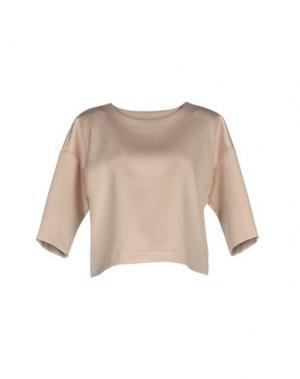 Блузка WEILI ZHENG. Цвет: бежевый